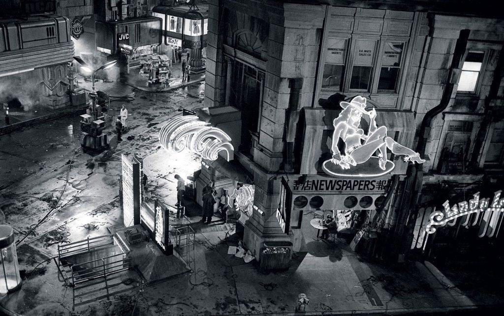 Un momento en el 'set' de rodaje de Blade Runner