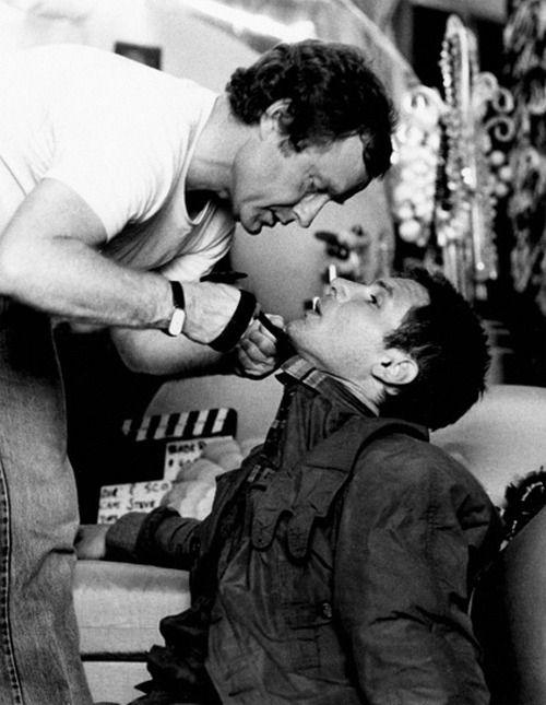 Ridley Scott y Harrison Ford, en un momento del rodaje